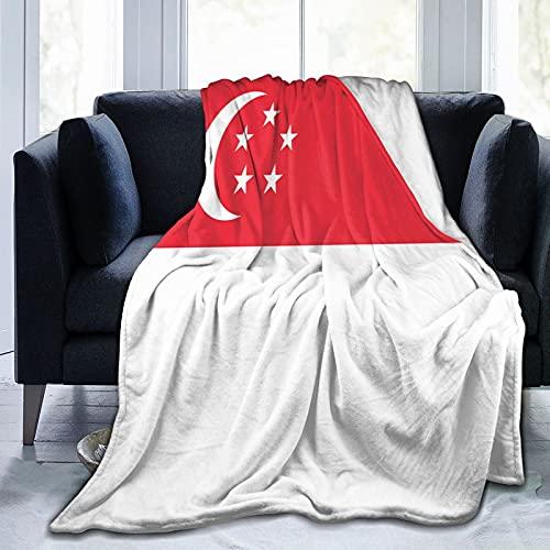Singapur-Flagge Flanelldecke flauschig bequem warm leicht weich Überwurf Decken Sofa Couch Schlafzimmer Decke
