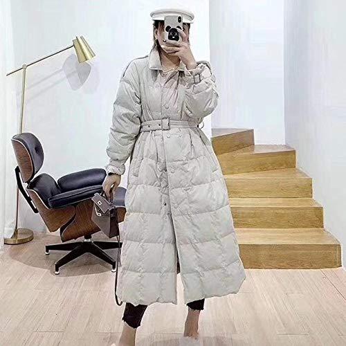 WFSDKN Dames Parka Elegant Long Style 2019 herfst winter dames donsjack solide Korean 90% wit eendendonsjack vrouwelijke trenchcoat