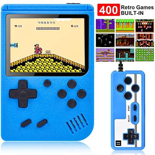 Gamory Handheld Spielkonsole,400 Klassische Spielen, 2.8-Zoll-LCD Bildschirm Retro-spielkonsole Unterstützt das Anschließen TV-Anschluss und Zwei Spieler für Kinder und Erwachsene Tischbillard