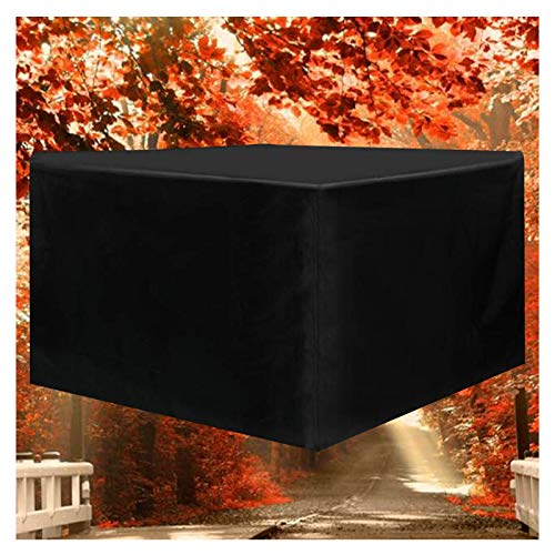 LITINGFC-Garden Furniture Cover,Heavy Duty Oxford Fabric Patio Rattan Furniture Covers,Windproof Rip Resistant Patio Table Waterproof Cover (Color : Black, Size : 242x162x100cm)