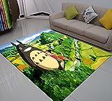 XuJinzisa Mi Vecino Totoro Dibujos Animados 3D Impresión Alfombra Área Alfombra Bienvenido Puerta Alfombra Al Aire Libre Alfombra para Dormitorio De Niños 160X230Cm N368