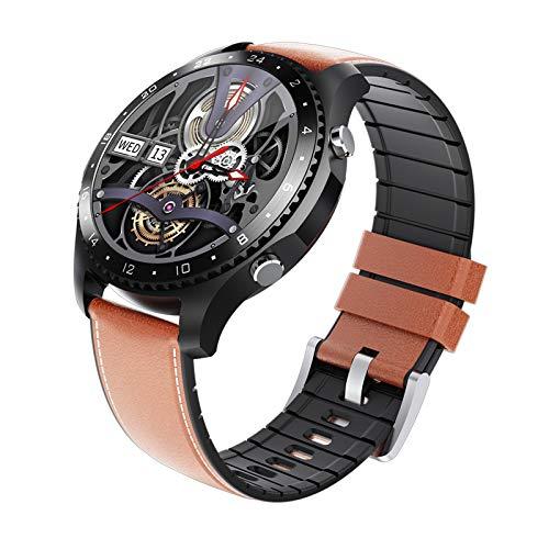 Reloj inteligente con Medidor de Temperatura Corporal/Llamada Bluetooth/Pulsómetros/Monitor de Sueño/SpO2/Presión Arterial, 11 modos deportivos, Fondo de bricolaje, Pulsera Actividad Inteligente ,C