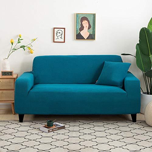 Graue Farbe Samt Sofabezug für Wohnzimmer Solid Sectional Sofabezug Elastic Couch Bezug Sofa Handtuch Sesselbezug Home Decor, Farbe 10,3, Sitz 190.230cm