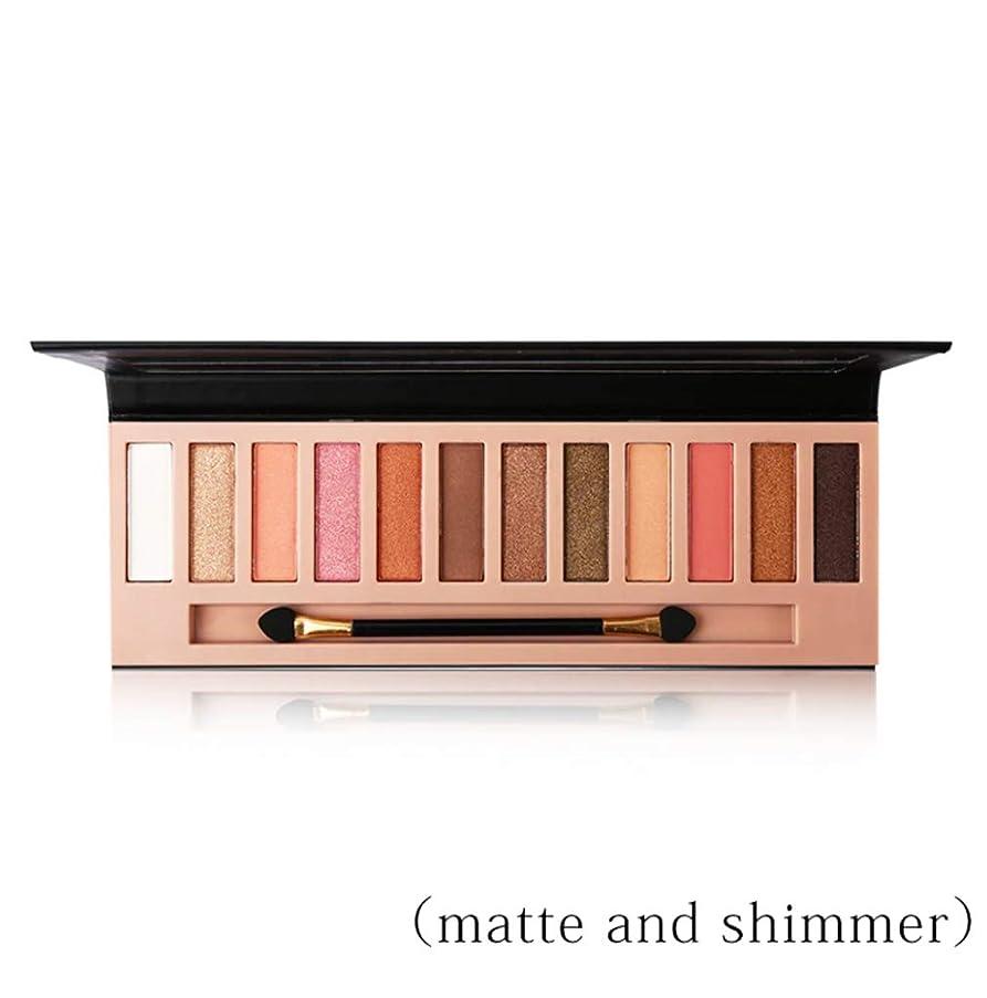微生物ほこり誠実Pro 12 Colors Shimmer Matte Eyeshadow Makeup Palette Long Lasting Eye Shadow Natural Eyeshadow With Brush