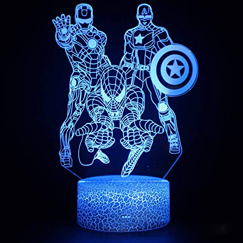 Optical Illusion 3D Night Light 16 Colors Changing USB Power Touch Switch Decor Lamp LED Table Desk Lamp Brithday Children Kids