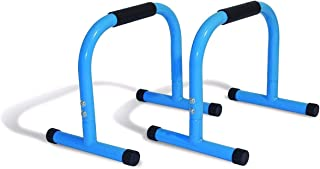 IBS Heavy Duty Push Up Station Fitness Exerciser for Upper Body Muscles Color Sky Blue