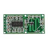 HALJIA RCWL-0516 módulo de sensor de movimiento, radar de microondas, interruptor de inducción del cuerpo humano de alta sensibilidad Compatible con Arduino con distancia, ángulo amplio para detector