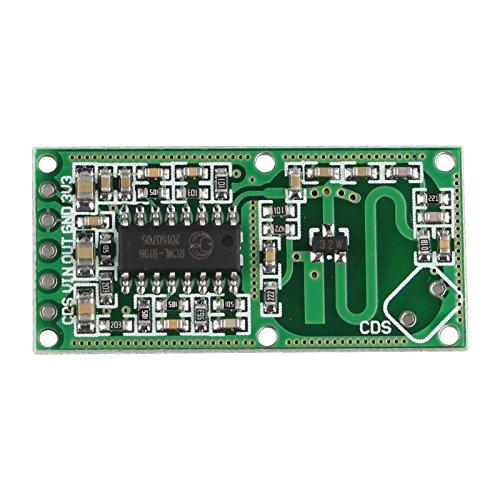 HALJIA RCWL-0516 Mikrowellen-Radarbewegungssensor-Modul Induktionsschalter-Modul Langer Erfassungsabstand Weiter Erfassungswinkel zum Erfassen von sich bewegenden Objekten Kompatibel mit Arduino