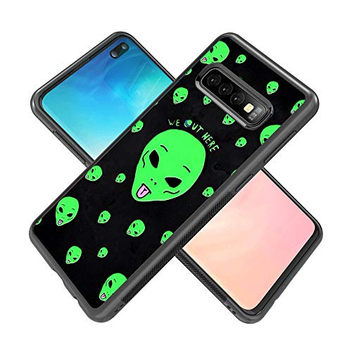 Alien Case for Samsung Galaxy S10 Plus, TPU and PC Customized Design Skin Cover, Black Anti-Slippery Anti-Scratch Protective Case for Samsung Galaxy S10 Plus