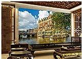 Mural De Papel Tapiz 3D Venecia Hotel Hd Vacaciones Seda Tela 300X210cm