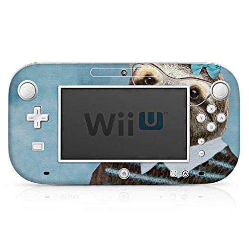 DeinDesign Skin kompatibel mit Nintendo Wii U Gamepad Folie Sticker Faultier Brille Portrait