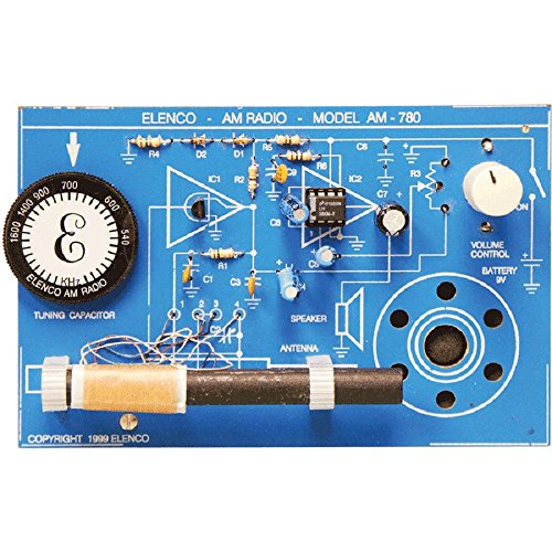 Elenco  Two IC AM Radio Kit | Lead Free Solder | Great STEM Project | SOLDERING REQUIRED