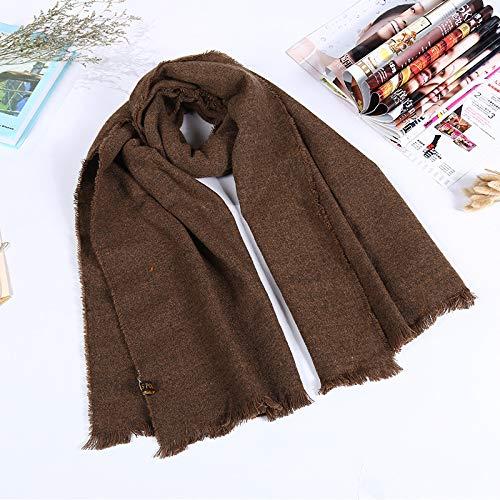 mlpnko Einfarbiger Warmer Schal, weiblicher Schal aus Kaschmirimitat