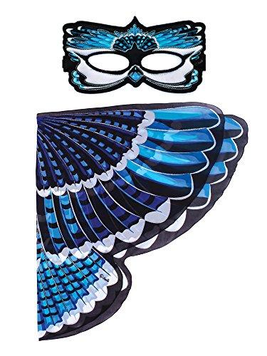 Dreamy Dress-Ups 66209 Mask + Wings, vleugels + masker, Blue Jay, vogel blauwe blauwe blauwe cyanocitta cristata