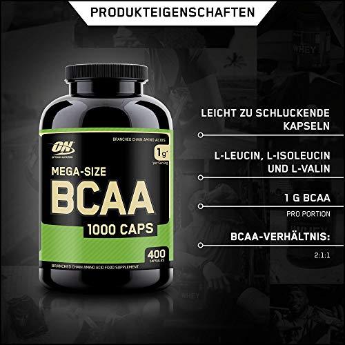 Optimum Nutrition BCAA 1000- 400 Kapseln , 1er Pack (1 x 400 g) - 2