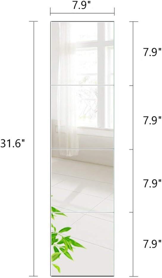 Max 61% supreme OFF PLIENG Wall Mirror Tiles of Full-L Set Frameless Glass HD