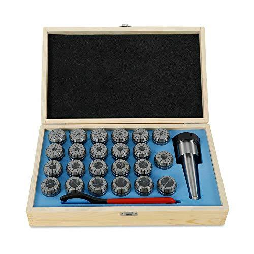 ER40 - Juego de alicates de resorte de precisión, diámetro 4-26 mm, MK4 M16/MK3 M12, 23 piezas