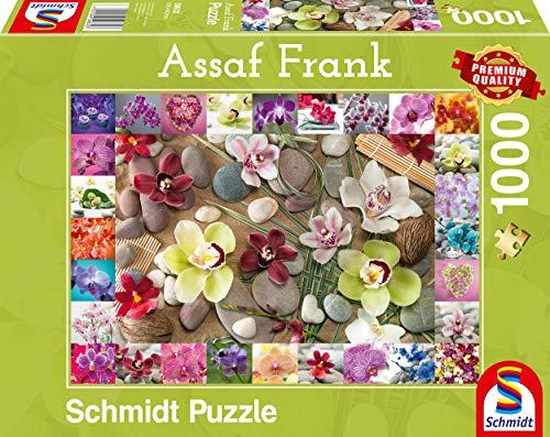 Assaf Fn   Puzzle (1000 Piezas), diseño de orquídeas, Color carbón (SCH59632)
