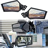 Adjustable Rearview Side Mirrors for RZR XP 1000, SAUTVS Folding Clear Rear View Side Mirrors for Polaris RZR XP XP4 1000 Turbo S 1000 900 2014-2021 Accessories(2PCS)
