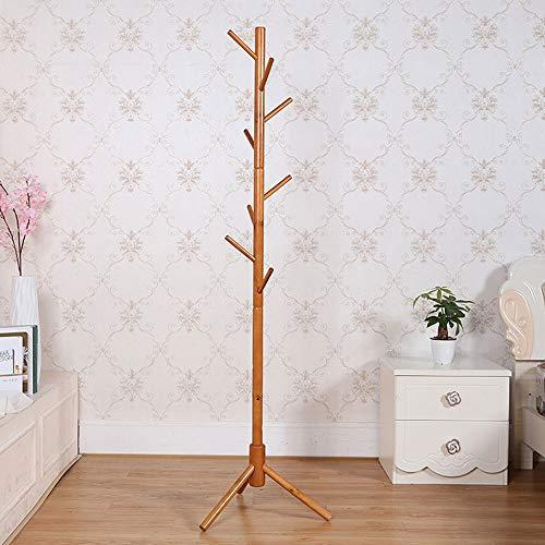 TGBYHN kapstok, 175 cm, van hout, 8 haken, inklapbaar, staand, mantel/hoed, rek, toegangsdeur/kledingstang Een