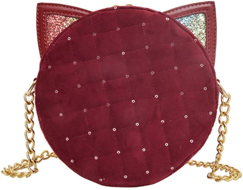 Chain, one Shoulder, Korean Version, Fashion, Trend, Crossbody, Rhombic, Small Round Bag