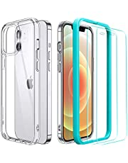 ESR Hybrid Case and Screen Protectors for iPhone 12, iPhone 12 Pro Case [Includes 2-Pack Glass Screen Protector] [Ultra-Thin Case] [Shock-Absorbing Corners] – Clear