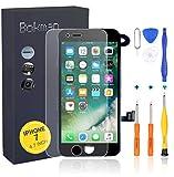 Bokman LCD Pantalla para iPhone 7 Reemplazo de Pantalla LCD con Cámara Frontal, Sensor Flex, Altavoz Auricular y Herramientas de Reparación(Negro)