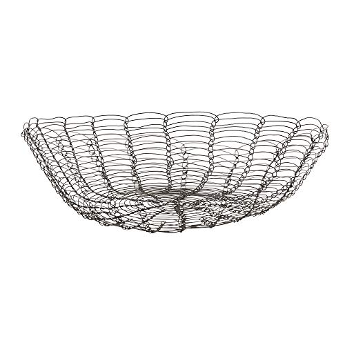Bloomingville - Obstkorb Rio - Metall - Schwarz - Ø36,5 x H11 cm