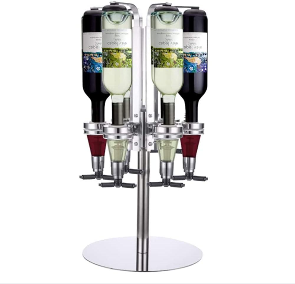 MKIU 6-Bottle Liquor Dispenser Pourer Spring Rotating Sale SALE% OFF Drinking Wholesale