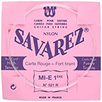 SAVAREZ サバレス クラシックギター弦 ピンクラベル ノーマルテンション1弦 521R (1st)