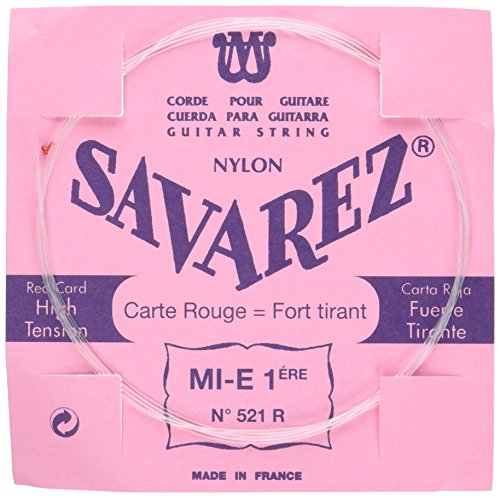 petit un compact Cordes pour guitare classique Savarest Traditional Concert 521R Single String – E Standard -…