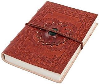 Leder Tagebuch Blanko Tagebuch (15,2 (15,2 (15,2 x 10,2 cm) Reiseplaner mit eingebetteten grün Stein von Store Indya B01AVVGLIW  Neu 31be72