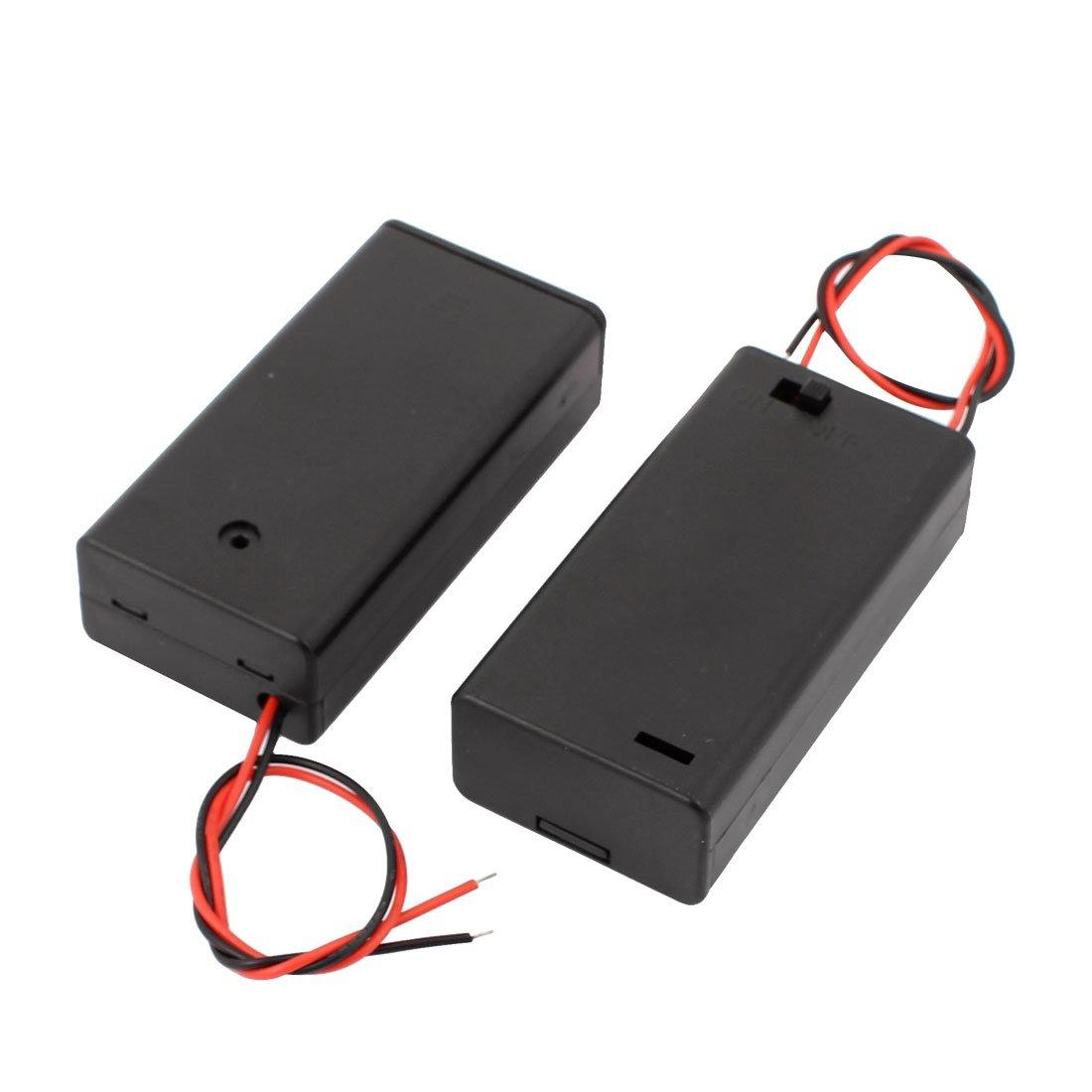 Map 2 Unidades Interruptor on/Off 2 Hilos de baterías Caja con Tapa para 2 X Pilas AA 1,5 V: Amazon.es: Electrónica