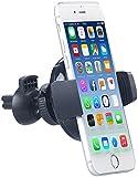 Callstel Handyhalter Auto: Qi-kompatibler Kfz-Lüftungsgitter-Halter für Smartphone bis 10 cm