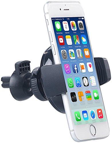 Callstel Porta Cellulare per Automobile: Supporto per griglia di Ventilazione del Veicolo Compatibile con Qi per Smartphone Fino a 10 cm, 5 W. (Il Proprietario della Macchina Cellulare)