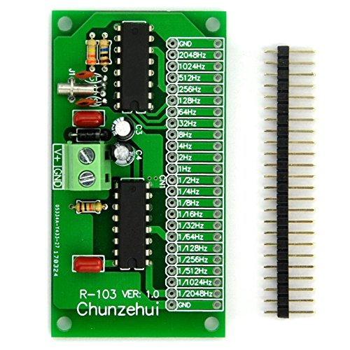 Chunzehui 2048Hz ~ 0.00049Hz(1/2048Hz) Extremely/Super Low Frequency Square Wave Oscillator Module