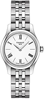 Tissot Tradition Thin White Dial Ladies Stainless Steel Watch T0630091101800
