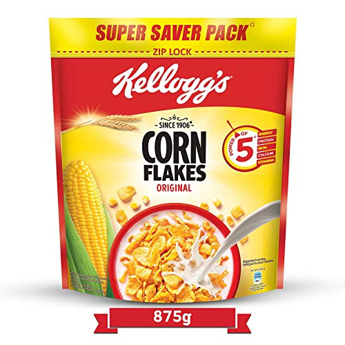 Kellogg's Corn Flakes Original, High in Iron, High in B Group Vitamins, Breakfast Cereals, 875g