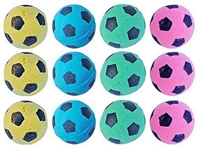 PETFAVORITES Foam Soccer Balls Cat Toys - Pack of 12 from PetFavorites