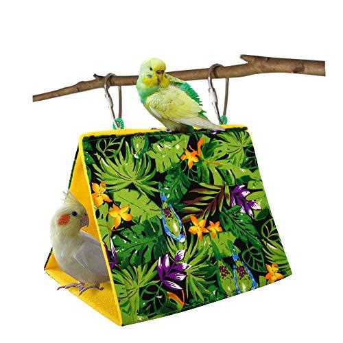 Kama Bird Nest Hanging Cage Tent for Small Pets Parrot Hammock Parakeet Myna Pigeon Parakeet Lovebird Nest Perch Stand Swing