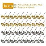 40 Piezas Conjunto De Cepillo De Rueda De Alambre De Acero Accesorios para Herramienta Rotativa,Discos De Pulir Abrasivos