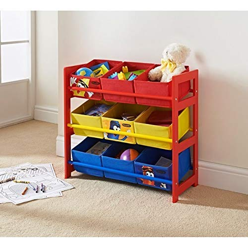 9 Tub Storage Unit Furniture for Kids Bedroom Toys Storage