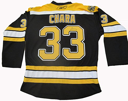 Zdeno Chara Autographed Custom Jersey W/PROOF, Picture of Zdeno Signing For Us, Stanley Cup Champions, Norris Trophy, PSA/DNA Authenticated