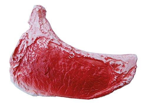 ERRO Rindersteak Attrappe aus Kunststoff - 09297, Lebensmittelattrappe Steak roh, Fleisch Nachbildung, Imitation zur Requisite, Theaterdeko, Bühnendeko, Foodmodel Metzgerei, Gastronomiebedarf