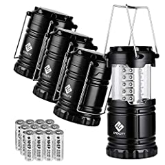ULTRA BRIGHT: This lantern Includes 30 individual low consumption LED bulbs carrying 360° of luminous light while saving energy LONG-LASTING: Light up at least to 30 hours of regular, continuous use with enough battery capacity (batteries pre-install...