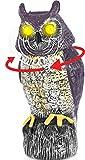 Gartendeko Solar EULEN |Klang,Blitz Augen,360°Kopf| vogelschreck vogelabwehr | Eule Deko Taubenschreck für Balkon | Greifvogel Attrappe | Tauben Vertreiben Gartendeko Figuren | Taubenabwehr Balkon