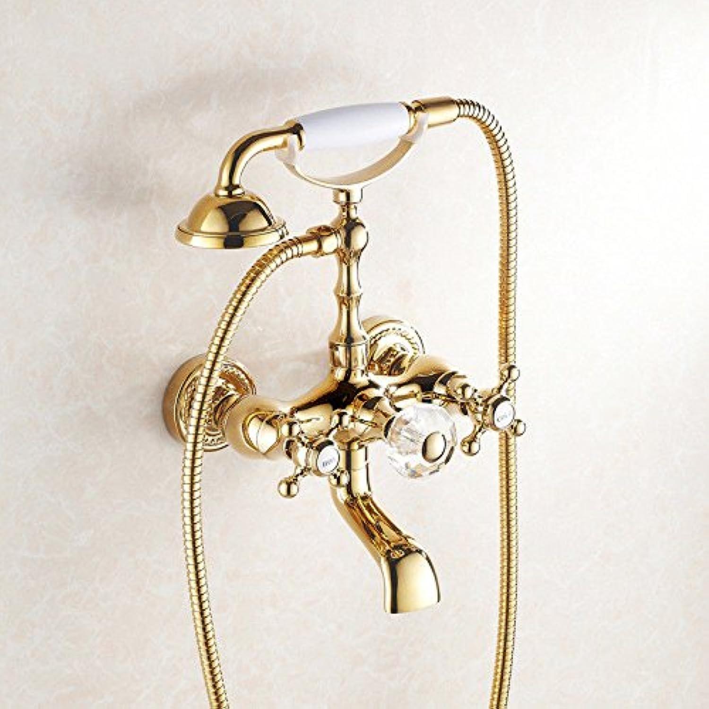 NewBorn Faucet Küche Oder Badezimmer Waschbecken Mischbatterie Das luxurise Gold an der Wand montierte Dusche Wasser Styleb Tippen