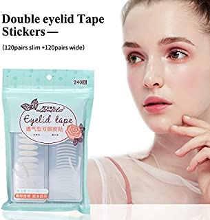 240 Pairs Invisible Double Eyelid Tape Stickers, Instant Eyelid Lift Sticker Without Surgery,Medical Grade Eyelid Sticker Tapes, Perfect For Hooded, Droopy, Uneven, Small, Mono-Eyelids