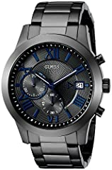 GREY CHRONOGRAPH DIAL WITH DATE WINDOW & BLUE ROMAN NUMERALS Features: CHRONOGRAPH STOPWATCH FEATURE with DATE FUNCTION window 44.5 MM CASE SIZE with DURABLE MINERAL CRYSTAL that protects watch from scratches BRUSHED/POLISHED STAINLESS STEEL CASE STA...