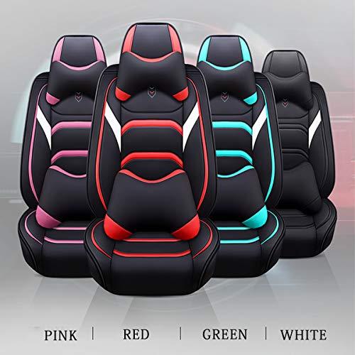 XKMY Interior Accessories - Juego de fundas universales para asiento de coche, 10 unidades, de piel sintética, resistente al desgaste, color verde nórdico.